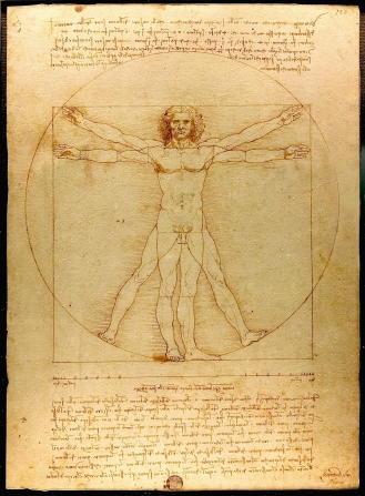 The Vitruvian Man. Leonardo Da VInci. 1490