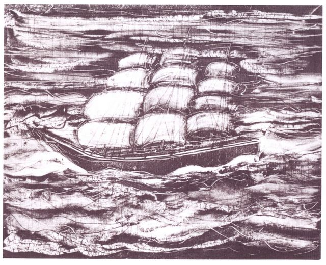 Illustration from the liner notes to Solomon Valley Ballads