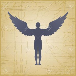 9348392-winged-man-stock-vector-angel-wings-silhouette